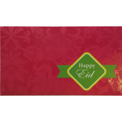 Eid Mubarak Premium Money Wallet Gift Card - Fuchsia Pink & Green