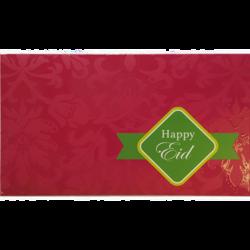 Eid Mubarak Premium Money Wallet Gift Card - Fuchsia Pink & Green