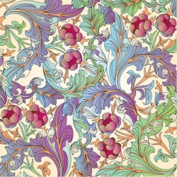 Vintage Floral Pattern Blank Luxury Card with Glitter Finish