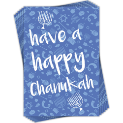 Have a Happy Chanukah Jewish Hanukkah Greeting Cards (6 Card Multipack - 1 Design)