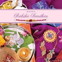 Happy Raksha Bandhan Greeting Card Includes Rakhi