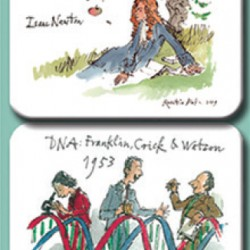 Quentin Blake Great Scientists Magnet Set by Fitzwilliam Museum University of Cambridge Pack of 4