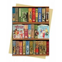 Bodleian Libraries - Girls Adventure Book Premium Foil Finish Blank Greeting Card