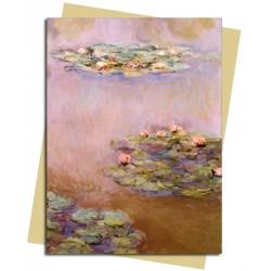 Water Lilies (Nympheas) by Monet Degas Premium Foil Finish Blank Greeting Card