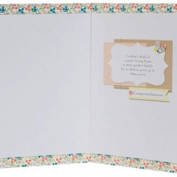 Congratulations On Adopting - It's Wonderful News! Greeting Card