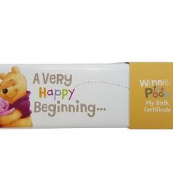 Hallmark Disney Winnie the Pooh Baby Ceramic Birth Certificate Holder