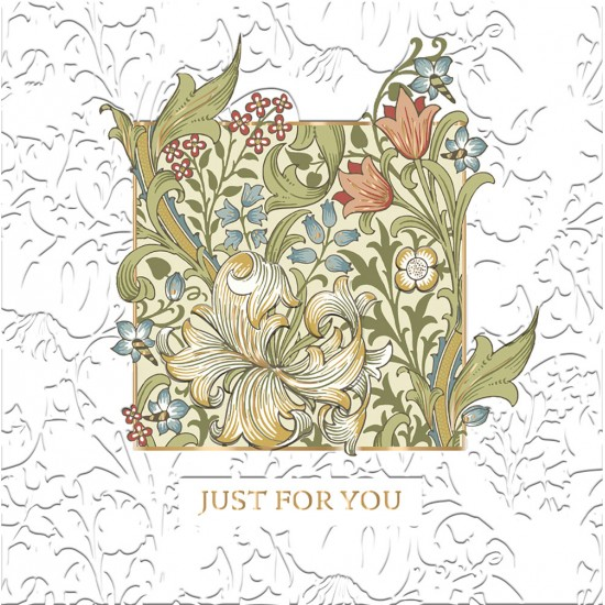 Golden Lily by William Morris - Morris & Co - Just For You BLANK Card - Ling Design (IJ0037) Vintage Floral