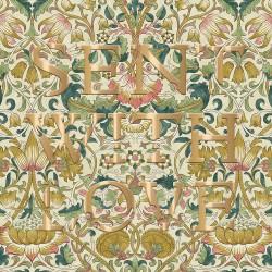Lodden by William Morris - Morris & Co - Sent with Love BLANK Card - Ling Design (IJ0039) Vintage Scrolling Flowers