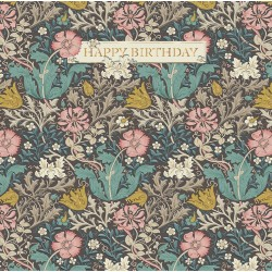 Compton by William Morris - Morris & Co - Happy Birthday BLANK Card - Ling Design (IJ0041)
