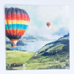Pack of 5 Blank Notecards & Envelopes (N595) Air Balloons Up Up and Away - by Darren Dearden