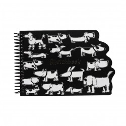 Nigel Quiney Stationery Puppy Dog Spiral Sketchbook (CSGW11)