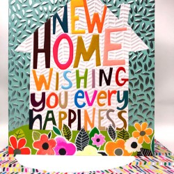 New Home Wishing You Every Happiness  Blank Greeting Card- Emboss & Foil - Hunky Dory by Paper Salad (HD2022)