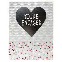 You're Engaged Heart Blank Greeting Card - Emboss & Foil - Jamboree by Paper Salad (JA1868)