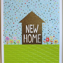 New Home House Blank Greeting Card - Emboss & Foil - Jamboree by Paper Salad (JA1874)