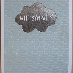 Sympathy Cloud Blank Greeting Card - Emboss & Foil - Jamboree by Paper Salad (JA1876)