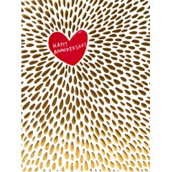 Happy Anniversary Blank Greeting Card - Emboss & Foil - Pixie by Paper Salad (PX1906)