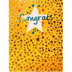 Congrats Star Blank Greeting Card - Emboss & Foil - Pixie by Paper Salad (PX1909)