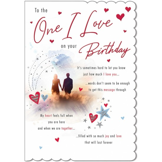 One I Love on your Birthday Sentimental Greeting Card By Piccadilly