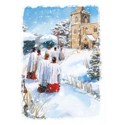 Choir Boys Church Religious Luxury Foil Art Xmas BHF Charity Christmas Pack (5 Cards,1 Design)