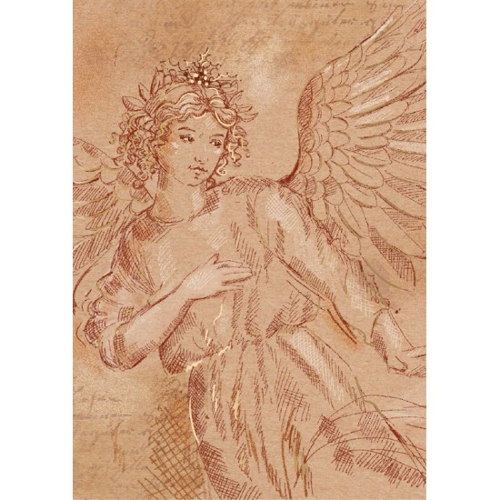 Christmas Angel Religious Art Luxury Foil Art Xmas BHF Charity Xmas Pack (5 Cards,1 Design)