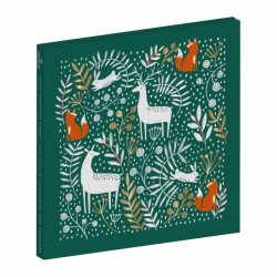 Winter Wonderland Woodland Deer Box of 8 Christmas Cards in 2 Designs by Curious Inksmith