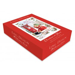 Traditional Festive Christmas at Home Box Assortment of 24 Xmas & New Year Cards