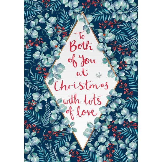 To Both of You at Christmas Holly Luxury Handmade 3D Greeting Card By Talking Pictures