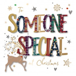 To Someone Special at Christmas Luxury Handmade 3D Greeting Card By Talking Pictures