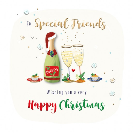 To Special Friends Happy Christmas Luxury Handmade 3D Greeting Card By Talking Pictures