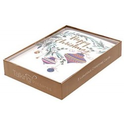 Baubles Box of 5 Luxury Foil Finished Christmas Xmas Cards by Talking Pictures