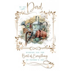 Great Dad Gardening Happy Father's Day Greeting Card (FD003)