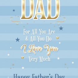 Dad I Love You Happy Father's Day Greeting Card (FD005)
