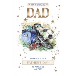 To A Special Dad Football Father's Day Greeting Card (FD011)
