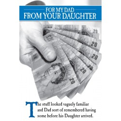 Dad from Daughter Familiar Cash Fathers Day Greeting Card (FDW225)
