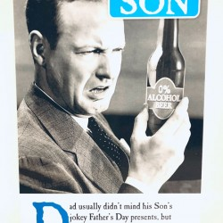 Dad from Son Offensive Beer Fathers Day Greeting Card (FDW665)