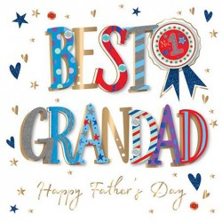 Best Grandad Happy Fathers Day No.1 Luxury Handmade Card by Talking Pictures