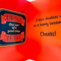 Best Dad one ale of a good Chap Father's Day Greeting Card Beer mat