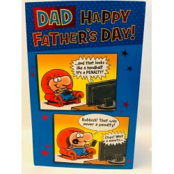 Dad Happy Father's Day Greeting Card Humour TV Football