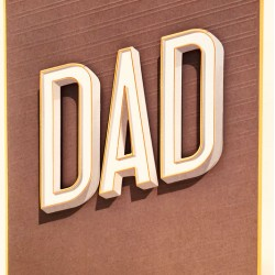 3D DAD Father's Day Greeting Card Perfectly Peculiar