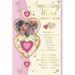 Anniversary Wishes African Ethnic Ebony Greeting Card with Gold Foil Finish