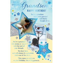 Special Grandson Happy Birthday African Ethnic Ebony Greeting Card with Lovely Verse