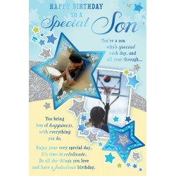 Special Son Happy Birthday African Ethnic Ebony Greeting Card with Lovely Verse