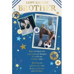 Brother Happy Birthday African Ethnic Ebony Greeting Card with Gold Foil Finish