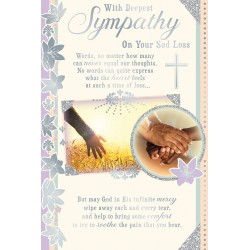 With Deepest Sympathy Religious African Ethnic Ebony Condolence Card