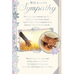 With Heartfelt Sympathy Religious African Ethnic Ebony Condolence Card