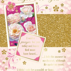 A Special Birthday Prayer for You Blessings Greeting Card with Religious Poem - Roses