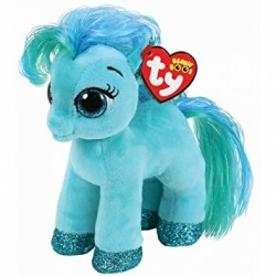 "TY Beanie Boo Topaz the teal Pony Small 6"" Soft Toy"
