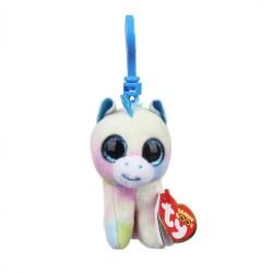 "TY Beanie Boo Blitz the Unicorn Key Clip 3"" Soft Toy"
