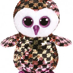 Ty Small 15cm Checks The Owl Sequin Beanie Boos Limited Edition Soft Toy