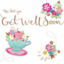 Hope That You Get Well Soon - Luxury Handmade 3D Floral Card by Talking Pictures